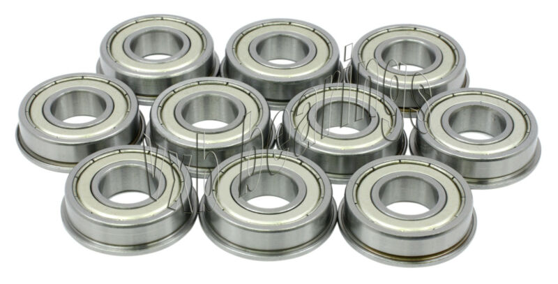 "10 Slot Cars 1/8""Axle Flanged Bearings 1/24 Slotcars"