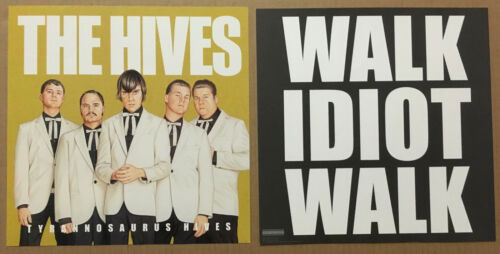 THE HIVES Rare 2004 SET of 2 DOUBLE SIDED PROMO POSTER FLAT of Tyrannosaurus CD