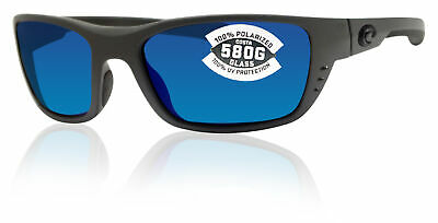 - Costa Del Mar Whitetip Matte Gray Frame Blue Mirror 580G Glass Polarized Lens
