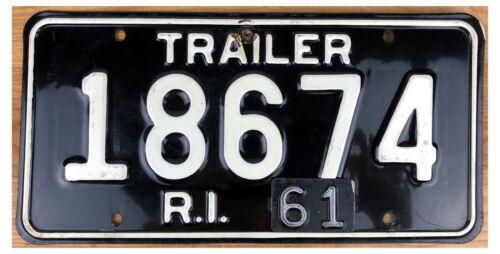 Rhode Island 1961 TRAILER License Plate 18674!