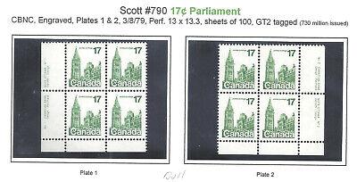 CANADA PBs 1 & 2 SCOTT 790iv VF MINT NH (BS19396)