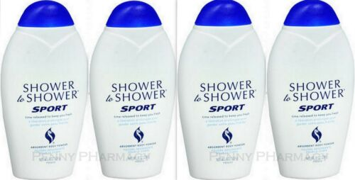 Shower to Shower Body Powder SPORT 8oz ( 4 pack ) WHITE