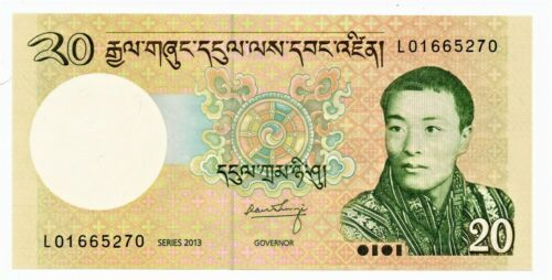Bhutan 20 Ngultrum Banknote 2013 Pick-30 as pictured
