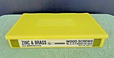 Servalite Plastic Display Storage Case Holder- Zinc Brass Wood Screws- Labeled