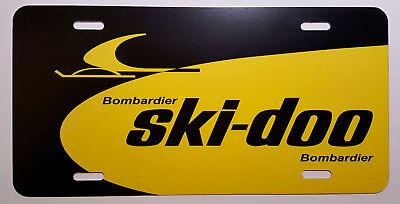 e09c4ca1ec1 Vintage Ski Doo Dealer Sign Snowmobile Logo Novelty License Plate