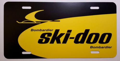 Vintage Ski Doo Dealer Sign Snowmobile Logo Novelty License Plate