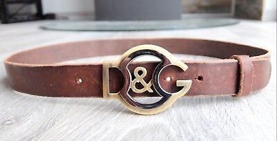 D&g Logo Gürtel (DOLCE & GABBANA GÜRTEL 90CM belt leather d&g 90 cm dg logo brown braun)