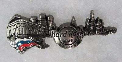 HARD ROCK CAFE MOSCOW LIMITED EDITION 3D SKYLINE GUITAR SERIES PIN # 89973