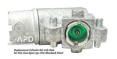 (Win Gun Sport 331 Co2 Blowback Pistol Replacement Cylinder Set with Stab)