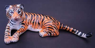 Ceramic TIGER Orange Stripy Wild Cat Coloured Ornament Curio Display Animal Gift
