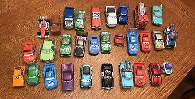 Lot Of 30 Disney Pixar Cars Movie  Diecast Cars Lighting McQueen Mater