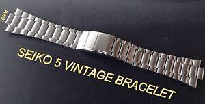 SEIKO VINTAGE BRACELET BAND STRAP FOR SEIKO 5 7009-3130 6309-8350 S-STEEL 10MM