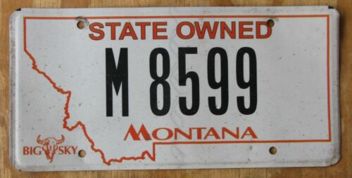 MONTANA - STATE M-PLATE license plate  2010  M-8599