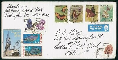Mayfairstamps Namibia 1991 Pretoria Dept State Butterfly Combo Fish Combo Cover