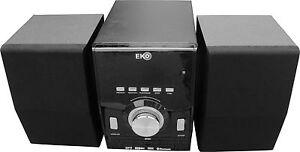 Micro Mini HiFi Stereo System Bluetooth DVD Player CD MP3 USB Aux In Radio New
