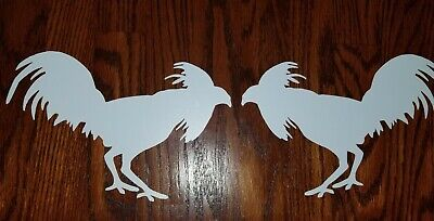 Gamefowl Decal Truck Car Suv Window Decal Chicken Rooster Collectible White Only