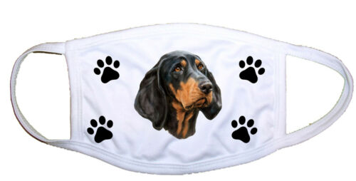 Black and Tan Coonhound Cloth Mask LP 28192 M