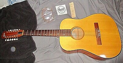 Vintage 1965 Goya 12 String TS-4 Acoustic Guitar w/ Original Case & Store Tag