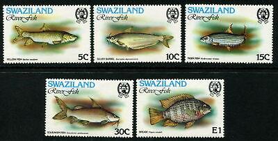 SWAZILAND - 1980 'RIVER FISH' Set of 5 MH SG359-363 [A8649]