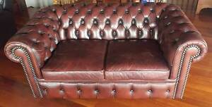 Moran Leather Couch 2.5 Seater Carina Heights Brisbane South East Preview