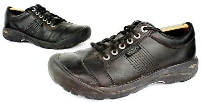 KEEN Austin Full Grain Black Leather 6-Eye Laced Oxford Shoes Men's Size 10 EUC Austin Black Leather