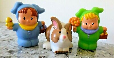 Fisher Price 2  Little People in Bunny Costumes and 1 Bunny](2 People Costume)