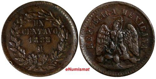 Mexico SECOND REP.Copper 1888/7 Mo 1 Centavo OVERDATE KM# 391.6 (14 508)