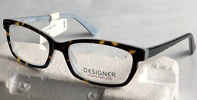 Designer Looks For Less 4025 52-17-135 Tortoise Blue  Women's Eyeglass (Eyeglasses For Less)