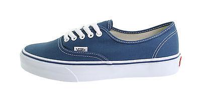 Vans Women Men Unisex Shoes Authentic Navy Blue Canvas Lace Up Classic Sneakers