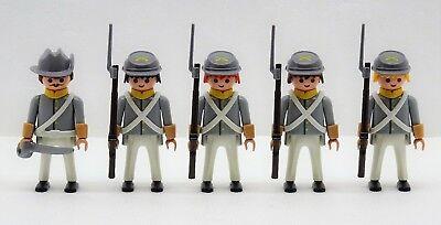 SÜDSTAATLER 4 x KADETT + MAJOR Playmobil Soldaten vs Nordstaatler Handschuh 2089