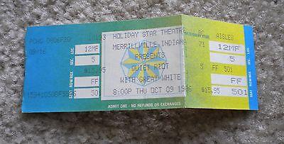 Quiet Riot & Great White Concert Ticket Stub Merrillville, IN Oct 9, 1986
