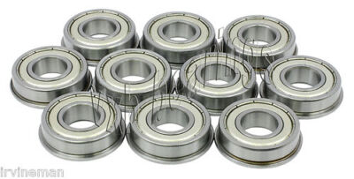10 Slot Car Flanged 18x 14 Inch Miniature Ball Shielded Radial Ball Bearings