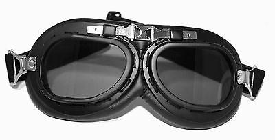 ATO 102 Schwarz DDR Motorrad Brille für Oldtimer Schutzbrille Pilotenbrille