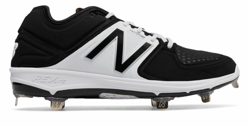 New Balance Low-Cut 3000v3 Metal Baseball Cleat Mens Shoes Black with White Size