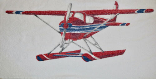 Polo Ralph Lauren vintage water prop plane beach towel   used
