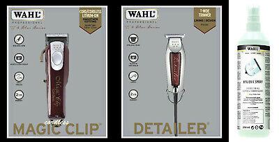 Wahl Inalámbrico Magic Clip Cortapelos + Wahl Ancho Detailer Higiene Spray