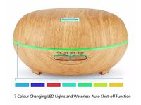 Aromatherapy 200 ML Wood Grain Diffuser/LED Night Light (NEW)