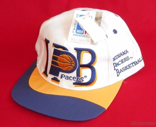 Indiana Pacers Vintage Hat 1990's Snap Back NBA Basketball I