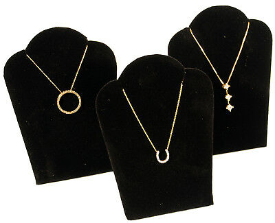 3 Black Velvet Pendant Necklace Jewelry Display 5