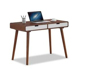 NEW Baxton Studio Casarano 2-Tone 2 Drawer Wood Home/Office Writing Desk Dark Walnut/White Condition: New
