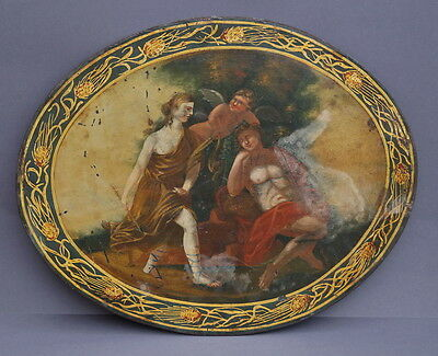 Venus und Endimione - Öl auf Blechplatte - Mythologische Szene  18. Jahrhundert