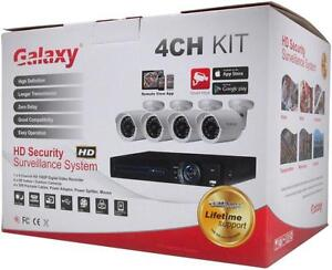 New - COMPLETE NIGHT VISION VIDEO SECURITY SYSTEM WITH 4 CAMERAS, DVR AND CABLES READY TO GUARD YOUR PROPERTY!