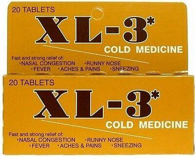 XL-3 Cold Medicine Tablets 20 CT