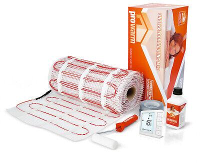 ProWarm Electric Underfloor Heating Mat Kit 150w Per M² - With Free Digital Stat