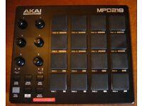 AKAI MPD218 drum pad midi controller AS NEW!
