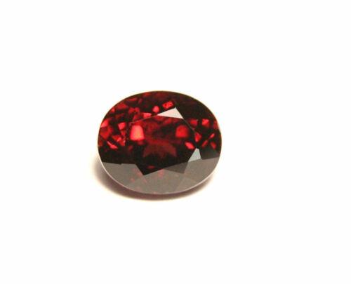 2.7ct Red Malaya Garnet - Custom Oval Cut - Large Clean Garnet - Tanzania 8x6