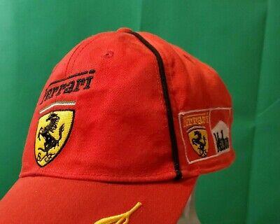 Ferrari Marlboro 1990's Vintage Cap Hat Formula 1 F1 Racing Red Gold— Rare A+