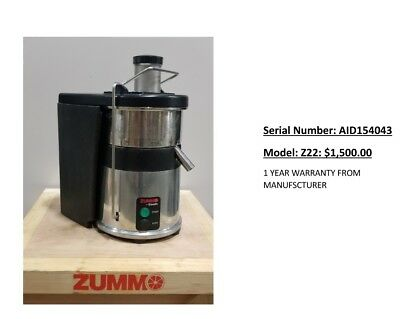 Zummo Commercial Orange Juicer Z22