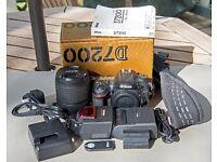 Nikon D7200 with Nikor ED 18-140mm VR lens plus accessories