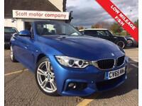 BMW 4 SERIES 2.0 420D M SPORT 2d AUTO 188 BHP (blue) 2015